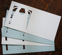 Stanskaarten Slab 4 Stuks 2 X Wit 2 X Blauw