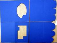 PP01- 4 Passe Partout Kaarten Blauw