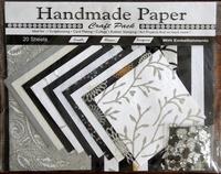 Handmade Paper met Embellisments Black