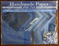 Handmade Paper met Embellisments Blue