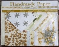 Handmade Paper met Embellisments Creme