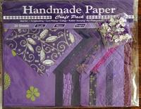 Handmade Paper met Embellisments Purple