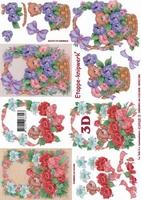 4169425 LeSuh 3D Beertje /Bloemen