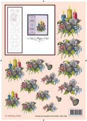 3DSS10005 Ann's Paper Art Kerststukje Borduren