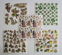 5 Leuke stickers serie 1G Afm 15 X 15 Cm