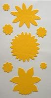 Velvet Sticker Geel Bloem