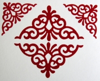 Velvet sticker Rood Ornament