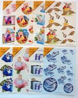 Set van 8 A5 Uitdrukvel voor 16 kaarten geen schaar nodig