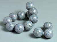 50201111 5 X Glaskraal rond grijs/lila graniet 14mm