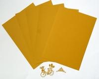 5 Vel karton A4  210 gr. oker voor kaarten en snijmallen