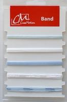 BL186299 Kaartje met 5 kleuren lint