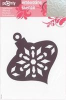 484139043 Pronty Emb. Stencil Kerstbal