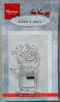 EC0140 Clearstamp Marianne Design eline`s owls