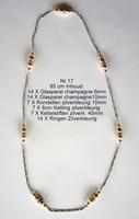 K17 Ketting van glasparels om zelf te maken 85 cm