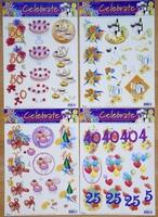 4 A4 Knipvellen Celebrate