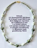 K14 Ketting van glasparels om zelf te maken 60 cm