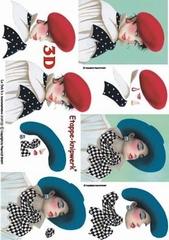 4169122 LeSuh Dame met hoed