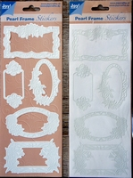 Pearl Frame Stickers Embossed  nr. 1301