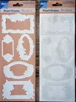 Pearl Frame Stickers Embossed  nr. 1301