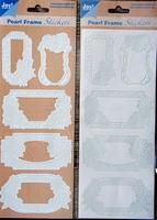 Pearl Frame Stickers Embossed  nr. 1302