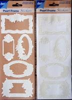 Pearl Frame Stickers Embossed  nr. 1305