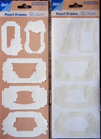 Pearl Frame Stickers Embossed  nr. 1306