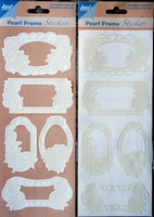 Pearl Frame Stickers Embossed  nr. 1307