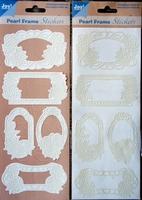 Pearl Frame Stickers Embossed  nr. 1307