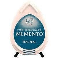 MD602 Memento Inkpad Dewdrops Teal zeal