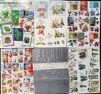 Kerstset 3 Inh. 16 A4 Knipvellen + 4 Stickers 10 X 23 cm