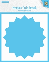 Precision cicle stencils 16-point circle