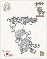 SCLOLA005 Clear stamps Little Lammy Christmas swing