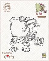 SCLOLA004 Clear stamps Little Lammy Santa Lammy