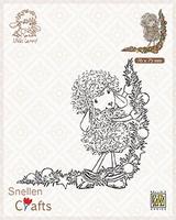 SCLOLA003 Clear stamps Little Lammy Christmas decoration