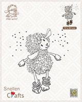 SCLOLA002 Clear stamps Little Lammy It's snowing!!