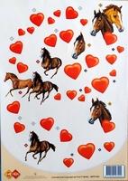 3DPP1003 Card Deco Paarden