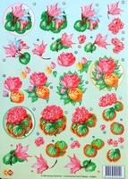 HJ5601Card Deco bloemen