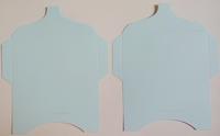 SK027 - 2 Knutselcadeau enveloppen Babyblauw