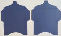 SK030 - 2 Knutselcadeau enveloppen Donkerblauw