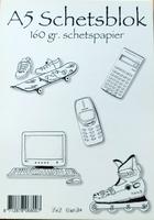 Schetsboek 25 vel A4  160gr.