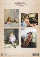NEVI023 Knipvel A4 colour vintage little sister