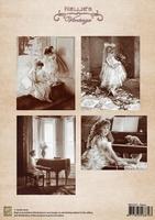 NEVI027 A4 sheet vintage piano