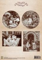 NEVI029 A4 sheet vintage playing