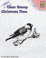 """CT011 clear stamp Christmas time """"bird"""""""