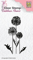 CSCF006 Clear stamps condolence flowers flower-6