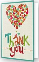 DDG.005 Diamond Dotz® - Greeting Card THANK YOU HEART