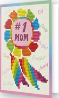 DDG.015 Diamond Dotz® - Greeting Card NUMBER 1 MOM