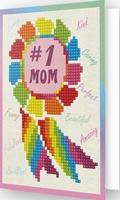 DDG.015 Diamond Dotz® - Greeting Card NUMBER 1 MOM