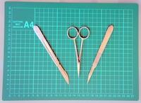 Snijset Inhoud A4 Snijmat 2 scalpels en 3D schaartje