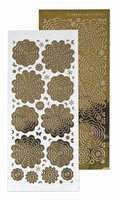 61.5862 Nested Flowers stickers 7. mirror gold